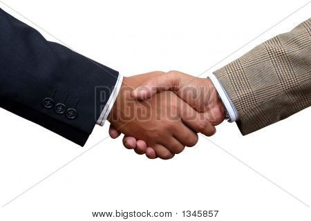 Business Handshake With Clipping Path