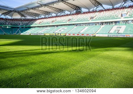 Legia Stadium During Sunny, Summer Day
