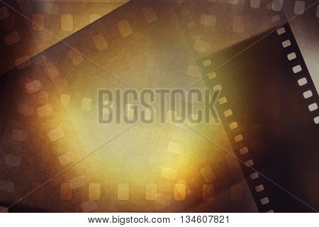 Film negative frames overlapping background