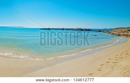 Panoramic view of Le Bombarde beach Sardinia