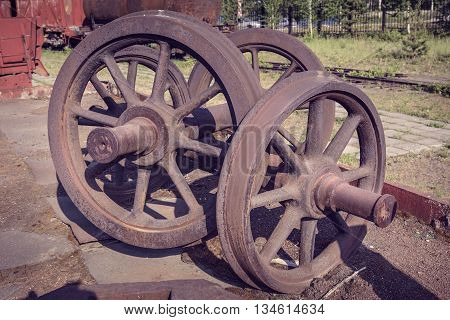 Old Railcar Wheelset