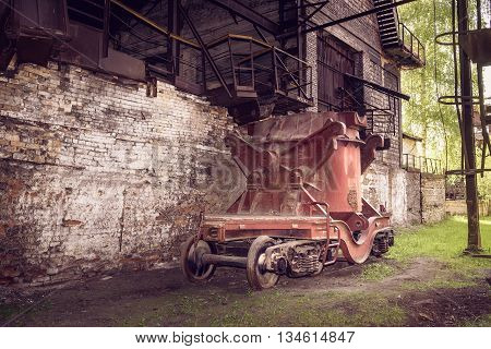 Old Steel Buckets To Transport The Molten Iron