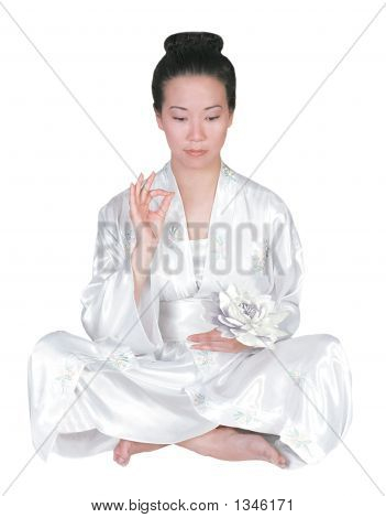 Asian Lady_Sitting In Meditation