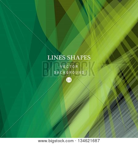 Abstract green vector background green transparent wave lines shapes for brochure website and flyer design. Green smoke wave form. Green wavy shapes background.