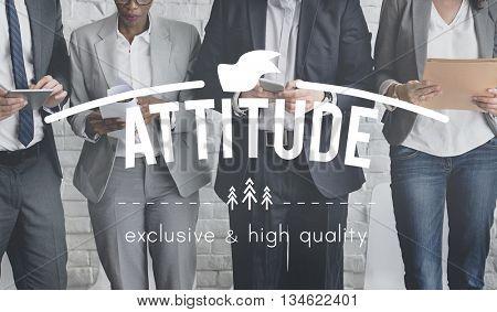 Attitude Approach Ethics Outlook Viewpoint Concept