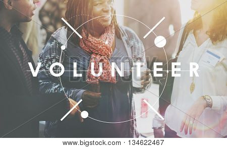 Volunteer Charity Aid Assistant Giving Help Concept