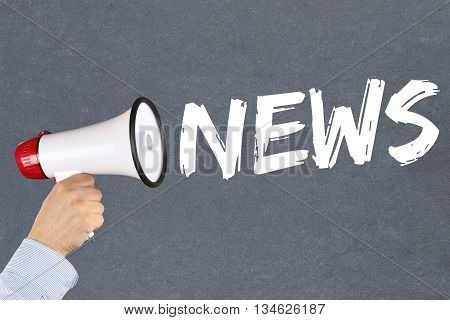 News Media Announcement Announce Information Megaphone