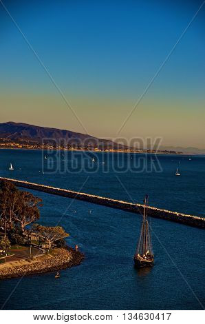 View from above the dana point harbor