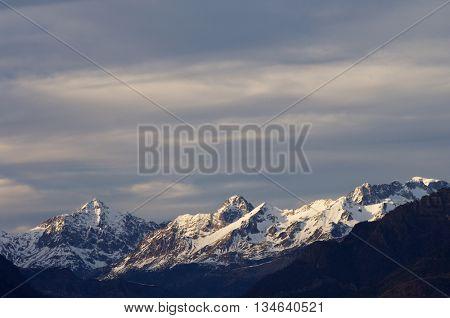 Mountains in Tena Valley, Pyrenees, Huesca, Aragon, Spain.