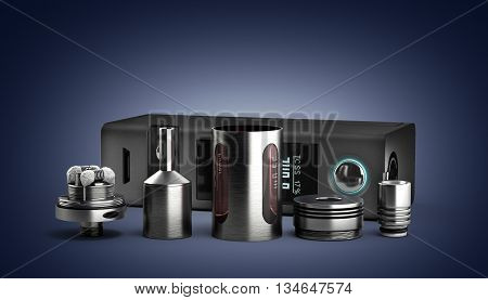 Serviced Atomizer In Disassembled Form For Soaring Electronic Cigarettes 3D Render