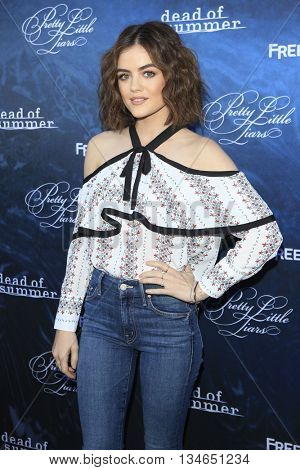 LOS ANGELES - JUN 15:  Lucy Hale at the Pretty Little Liars Seaon 7 Premiere and Dead of Summer Premeire at the Hollywood Forever Cemetary on June 15, 2016 in Los Angeles, CA