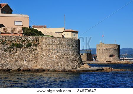 Saint Tropez; France - april 18 2016 : the picturesque old city in spring