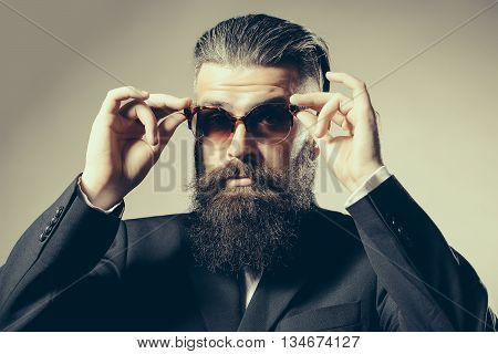 Bearded Handsome Man In Sunglasses