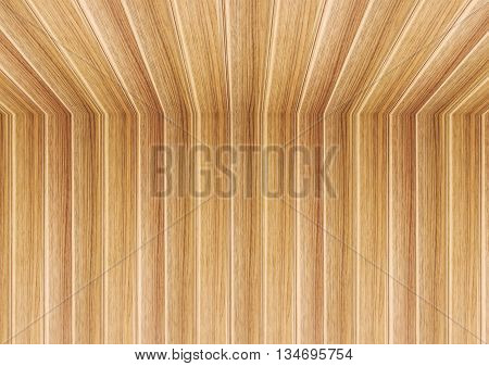 Perspective lines of wooden ceiling stock photo