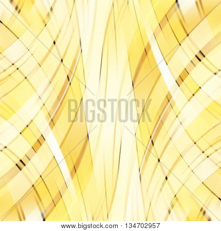 yellow smooth light lines background,  square simple vector illustration
