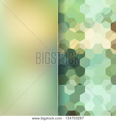 abstract light green background,  square simple vector illustration