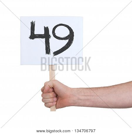 Sign With A Number, 49