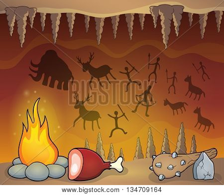 Prehistoric cave thematic image 1 - eps10 vector illustration.