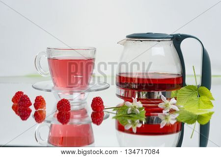 raspberry tea.healthy natural herbal tea.antiseptic featured mountain tea.