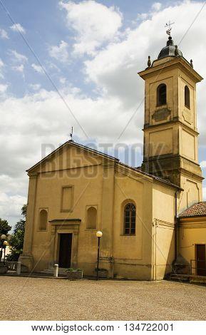 Yellow Church Facade