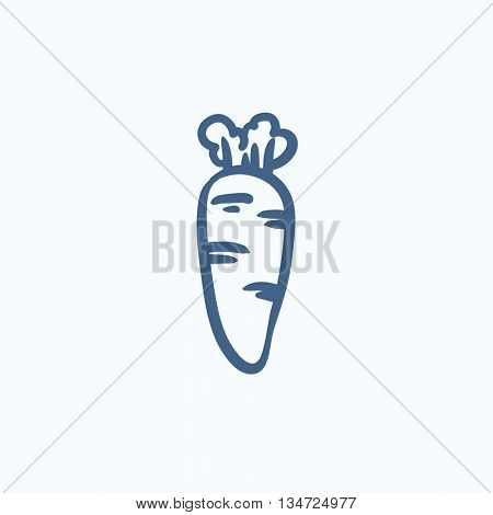 Carrot vector sketch icon isolated on background. Hand drawn Carrot icon. Carrot sketch icon for infographic, website or app.