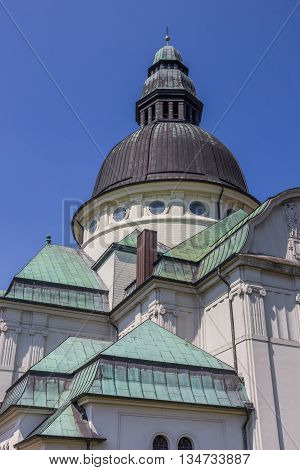 Dome And Green Roof Of The Saint Martin Church In Haren