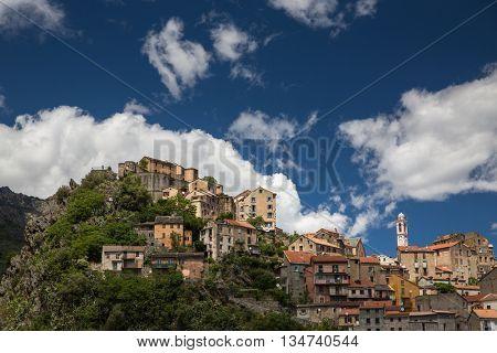 View of Corte, Corsica, France