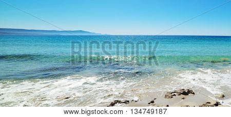 turquoise water in Le Bombarde beach Sardinia