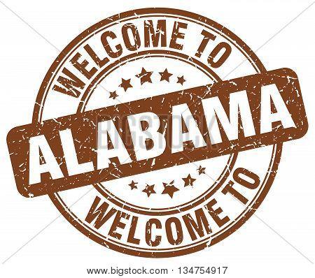 welcome to Alabama stamp. welcome to Alabama.