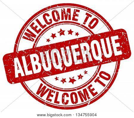 welcome to Albuquerque stamp. welcome to Albuquerque.