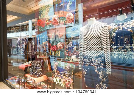 KUALA LUMPUR, MALAYSIA - MAY 09, 2016: Dolce & Gabbana store in Suria KLCC. Dolce & Gabbana is a luxury Italian fashion house founded by Italian designers Domenico Dolce and Stefano Gabbana