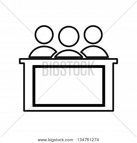 honorable jury isolated icon design, vector illustration eps10 graphic