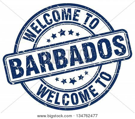 welcome to Barbados stamp. welcome to Barbados.