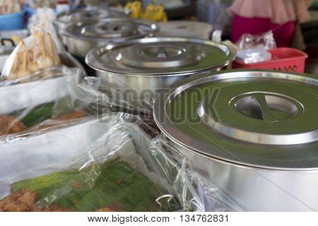 Local Food Restaurant In The Market, Thailand