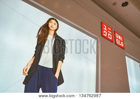 KUALA LUMPUR, MALAYSIA - MAY 09, 2016: Uniqlo store in Suria KLCC. Uniqlo Co., Ltd. is a Japanese casual wear designer, manufacturer and retailer.
