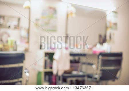 salon beauty interior room abstract blur background