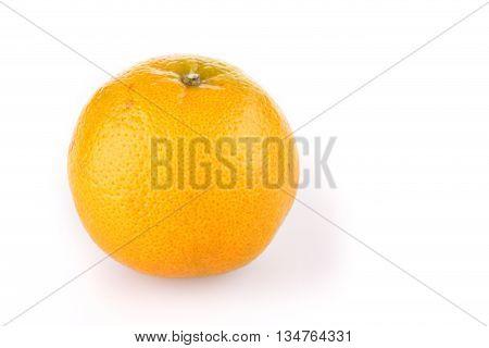 Orange Fruit Tropical Isolated On White Background