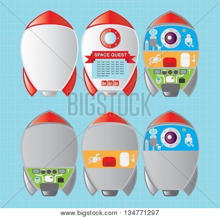 spaceship inside, broken into pieces missile control module in the rocket, sitting in a rocket chamber, a transport chamber in the rocket, the astronauts in the rocket, the life on a spaceship
