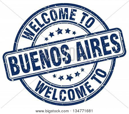 welcome to Buenos Aires stamp. welcome to Buenos Aires.