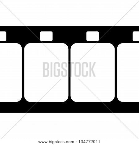 Vector Super 8 Film Strip Illustration on White Background. Abstract Film Strip design template. Film Strip Seamless Pattern.
