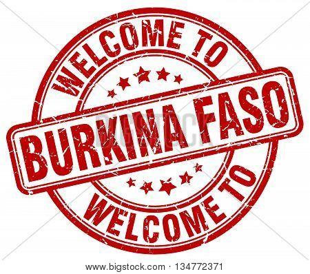 welcome to Burkina Faso stamp. welcome to Burkina Faso.