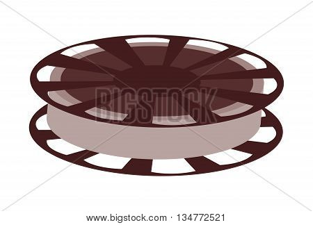 film reel vector illustration isolated over white