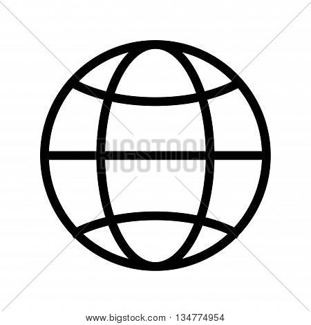 simple globe diagram with latitude lines and meridians vector illustration isolated over white