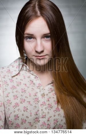 Teenage Girl With Pretty Eyes