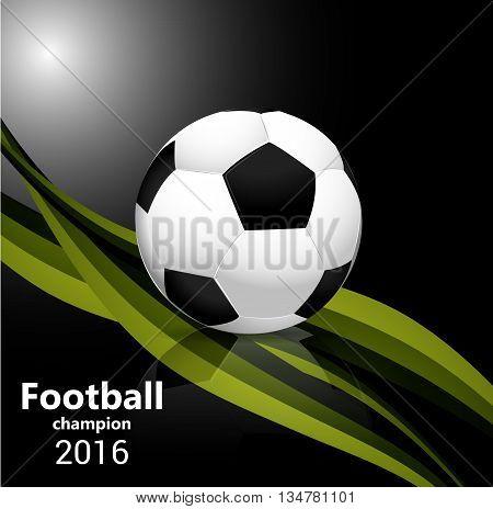 Football vector. Design for Brasil soccer champion.