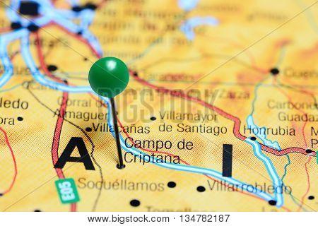Campo de Criptana pinned on a map of Spain