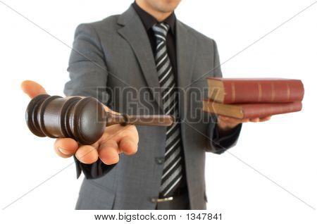 Businessman With Gavel