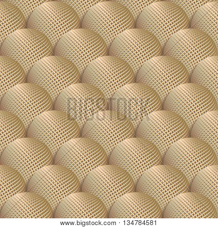 3d seamless pattern with gold balls. Beautiful metallic background with the effect of volume