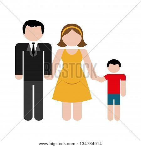 Avatar of Family design about couple and boy  illustration, flat and isolted design
