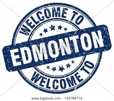 welcome to Edmonton stamp. welcome to Edmonton.